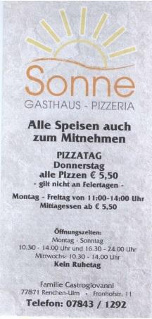 Pizzaria Sonne